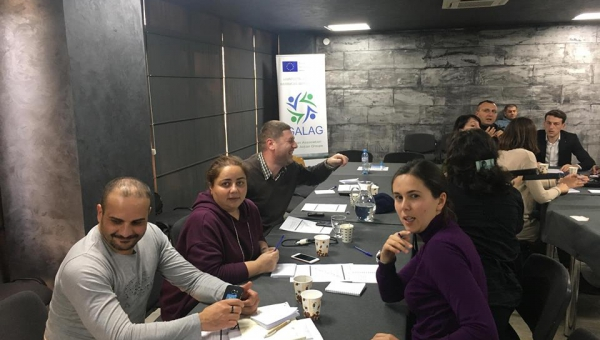 Members of Georgian Association of LAGs attend training in advocacy and lobbying
